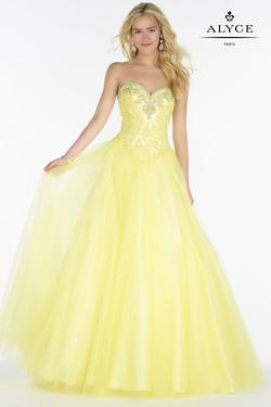 Style 6727 Alyce Paris Yellow Size 2 Quinceanera Corset Tall Height A-line Dress on Queenly