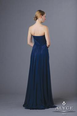 Style 5594 Alyce Paris Blue Size 12 Plus Size Tall Height A-line Dress on Queenly
