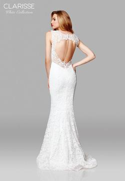 Style 600117 Clarisse White Size 16 Lace Plus Size Mermaid Dress on Queenly