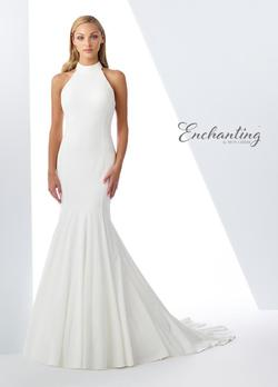 Style 119103 Mon Cheri White Size 2 Train High Neck Mermaid Dress on Queenly