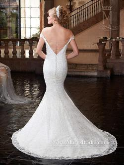 Style 6363 Mary's White Size 24 Flare Wedding Plus Size Mermaid Dress on Queenly