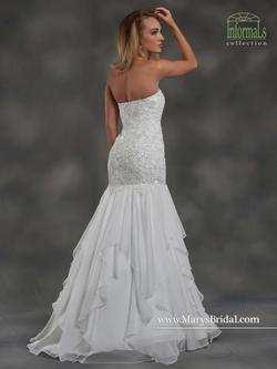Style 2652 Mary's White Size 16 Train Tall Height Lace Mermaid Dress on Queenly