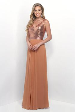 Style 4250 Mary's Gold Size 10 Tall Height Sequin Bridesmaid Straight Dress on Queenly
