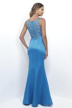 Style 4254 Mary's Blue Size 10 Wedding Guest Tall Height Bridesmaid Straight Dress on Queenly