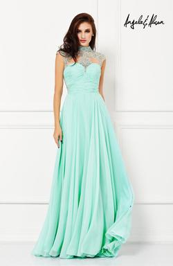 Style 61169 Angela and Alison Green Size 2 Tall Height Straight Dress on Queenly
