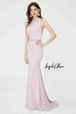 Style 81080 Angela and Alison Pink Size 8 Tall Height Mermaid Dress on Queenly