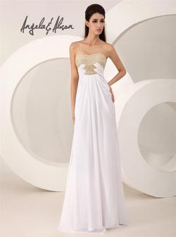 Style 41026 Angela and Alison White Size 2 Wedding Prom Straight Dress on Queenly