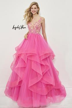 Style 81004 Angela and Alison Pink Size 6 Quinceanera Tall Height Ball gown on Queenly