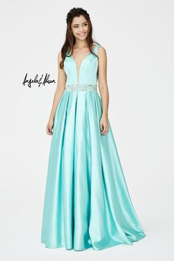 Style 81016 Angela and Alison Blue Size 10 Prom Pageant A-line Dress on Queenly