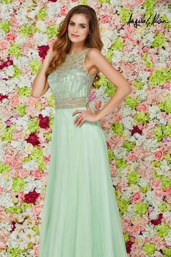 Style 61056 Angela and Alison Light Green Size 10 Prom A-line Dress on Queenly