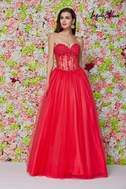 Style 61203 Angela and Alison Red Size 0 Prom Ball gown on Queenly