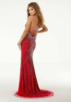 Mori Lee Red Size 20 Jewelled Sequin Side slit Dress on Queenly
