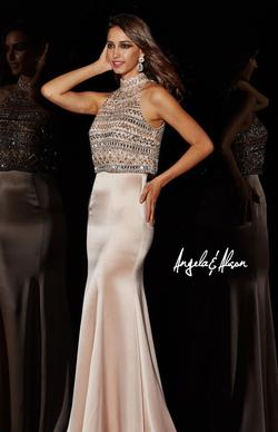 Style 51001 Angela and Alison Light Pink Size 4 Prom Two Piece Straight Dress on Queenly