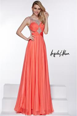 Style 51044 Angela and Alison Orange Size 10 Prom Pageant A-line Dress on Queenly