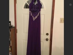 Tony Bowls Purple Size 10 Train Dress on Queenly