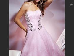 Tony Bowls Pink Size 16 Corset Ball gown on Queenly