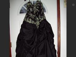 Alyce Black Size 12 Side Slit Ball gown on Queenly