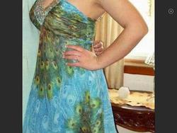 Tony Bowls Blue Size 8 V Neck Cocktail Dress on Queenly