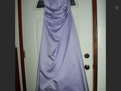Davids Bridal Purple Size 14 Plus Size A-line Dress on Queenly