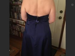 Davids Bridal Blue Size 16 Plus Size Halter Cocktail Dress on Queenly