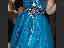 Tony Bowls Blue Size 14 Plus Size Cocktail Dress on Queenly