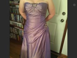 Flirt Purple Size 14 Corset Plus Size Cocktail Dress on Queenly