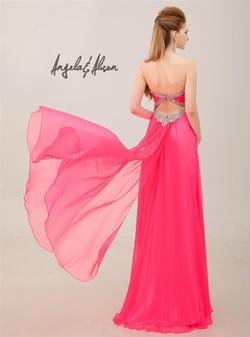 Style 41068 Angela and Alison Pink Size 0 Prom Pageant Side slit Dress on Queenly