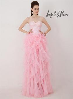 Style 41037 Angela and Alison Light Pink Size 2 Ruffles High Low A-line Dress on Queenly