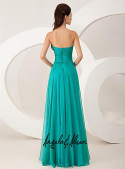 Style 41023 Angela and Alison Green Size 2 Tulle Prom Teal A-line Dress on Queenly