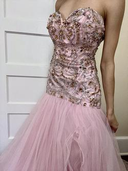 Sherri Hill Pink Size 00 Tall Height Mermaid Dress on Queenly