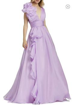 Mac Duggal Purple Size 6 Ball gown on Queenly