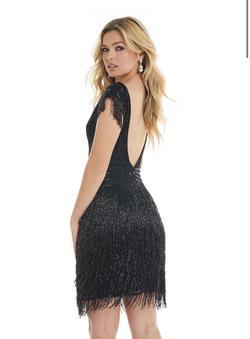 Ashley Lauren Black Size 4 Jewelled Sequin Cocktail Dress on Queenly