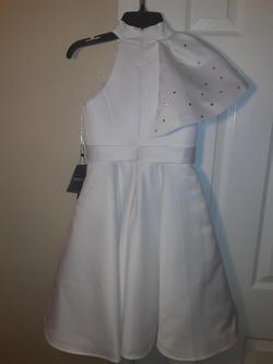 DanDan Li White Size 00 Pageant Jewelled A-line Dress on Queenly