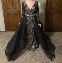 Black Size 8 Train Dress on Queenly