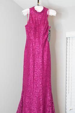 Style 3559 Jovani Pink Size 10 High Neck Pageant Mermaid Dress on Queenly