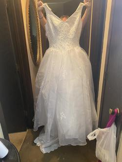 White Size 16 Ball gown on Queenly