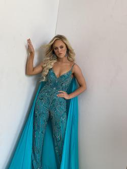 Sherri Hill Couture Green Size 4 Jumpsuit Dress on Queenly