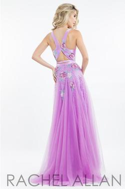 Rachel Allan Purple Size 10 Pageant Multicolor Fitted Straight Dress on Queenly