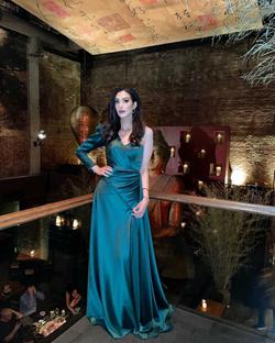 Ramaa Haute Couture Green Size 6 Tall Height Side slit Dress on Queenly