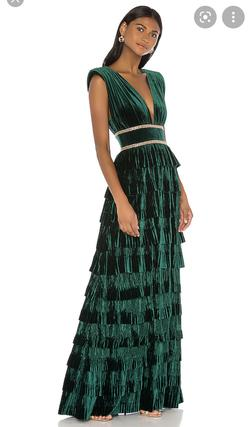 Custom made Green Size 2 Velvet A-line Dress on Queenly