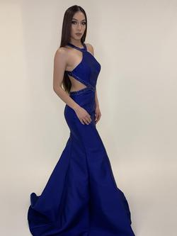 Larissa Couture LV Blue Size 2 Mermaid Dress on Queenly