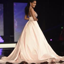 Jovani couture Pink Size 0 Custom Train Ball gown on Queenly