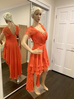 Alyce Paris Orange Size 10 Prom A-line Dress on Queenly