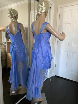 Maggie Sotero Blue Size 10 Nightclub Sequin Lace Cocktail Dress on Queenly