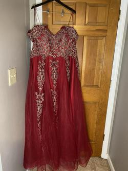 Red Size 22 Ball gown on Queenly