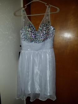 Grace Karin White Size 4 Pageant Sequin Cocktail Dress on Queenly