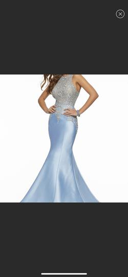 Mori Lee Blue Size 22 Mermaid Dress on Queenly