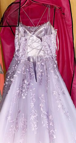 Sherri Hill Purple Size 14 Ball gown on Queenly