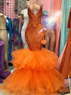 Ellie Wilde Orange Size 10 Straight Dress on Queenly