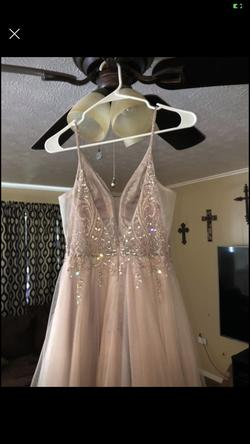 dillards Pink Size 0 Ball gown on Queenly
